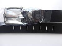 """Ремень мужской джинсовый шпенёк чёрный (кожа, Китай, 45 мм.)  """"Remen"""" LM-638"""