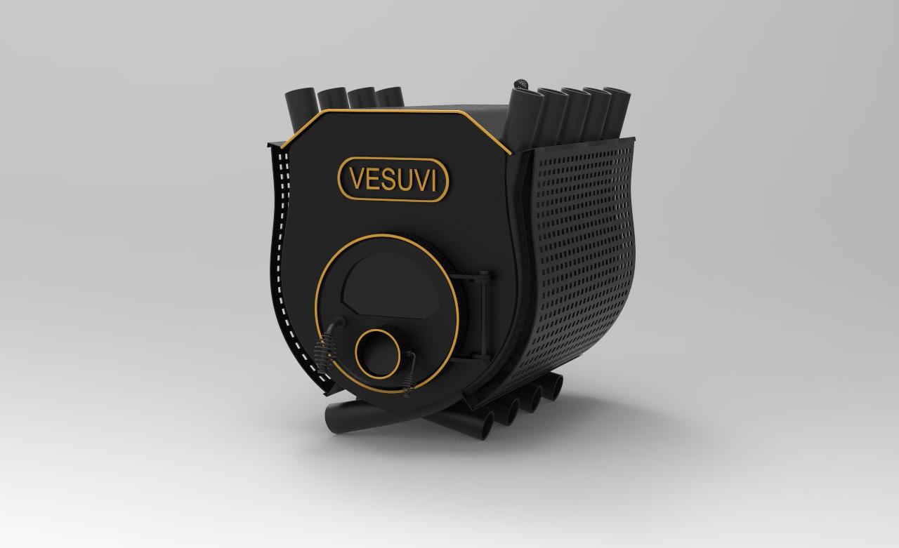Печь булерьян VESUVI с варочной поверхностью тип 02 со стеклом+перфорация - 500м3