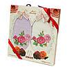 Подарочный набор кухонных полотенец в коробке Swan Роза, Лаванда вафельные 2*45x65