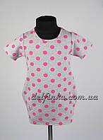 Трикотажная туника - платье с карманами для девочки от 3-6 лет