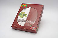 Подарочный набор кухонных полотенец в коробке Turkiz фрукты - Киви 2*50х70 (вафельн+махровое)