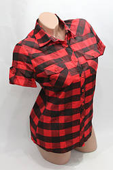 Рубашки в клетку женские короткий рукав