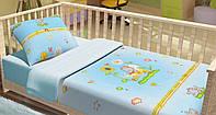 Сменный постельный комплект в кроватку «Слоненята» (Голубой), Top Dreams