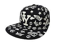 Cветящаяся черная кепка  New York