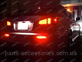 Діодні катафоти відбивачі в задній бампер Toyota Venza 2009-16 нові