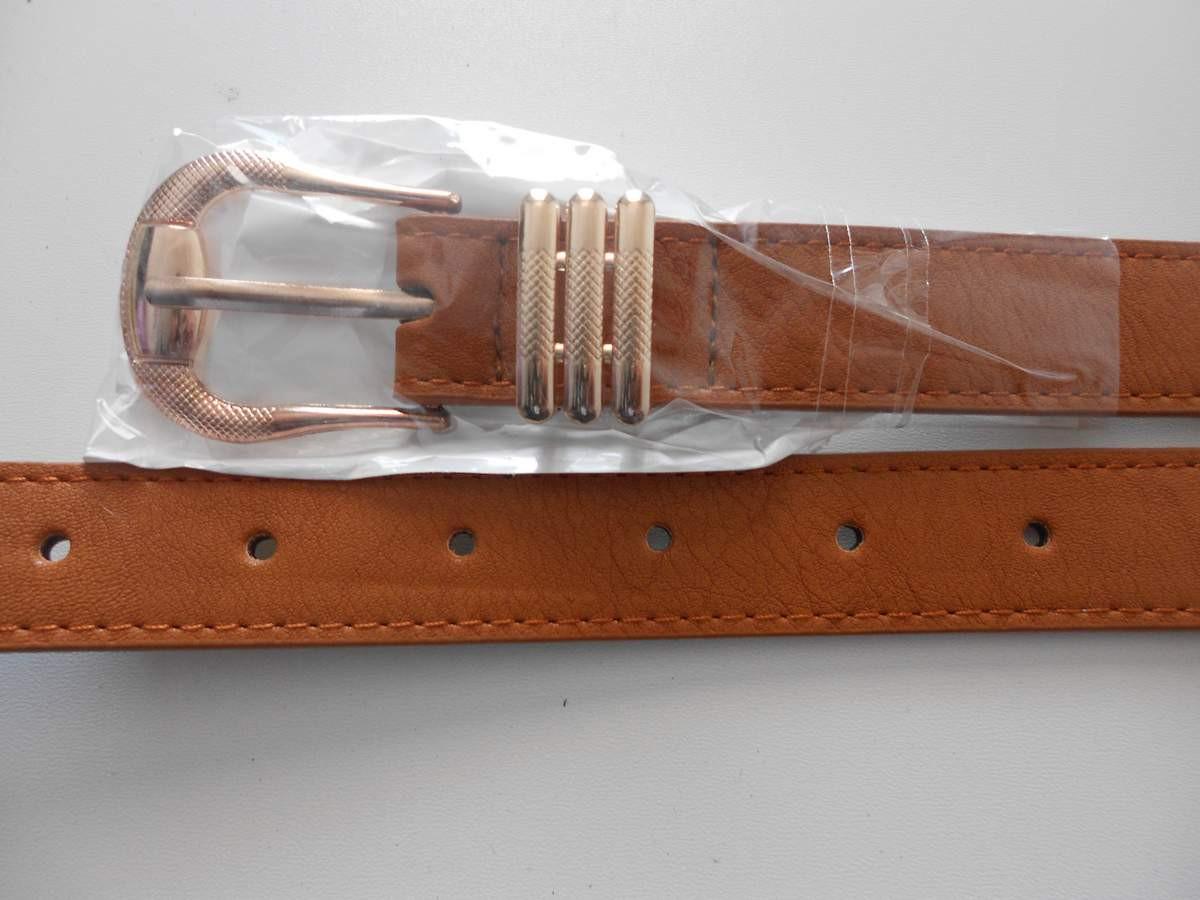 """Ремень женский шпенёк светло-коричневый (кож.зам. 25 мм.) """"Remen"""" LM-638"""