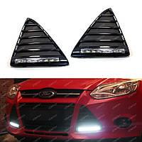 Ford Focus 2012-14 ходовые огни туманки диоды LED в бампер новые