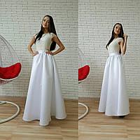 Белое платье длины макси (арт. 86398212)