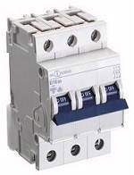 Автоматичний вимикач автомат 10 A ампер 6kA Німеччина трьохфазний трехполюсний С C характер ціна купити, фото 1