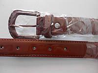 """Ремень женский шпенёк коричневый (кож.зам. 30 мм.) """"Remen"""" LM-638"""