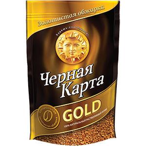 Кофе растворимый Черная Карта голд 285 г м/у