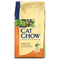 Cat Chow Adult с курицей и индейкой - 15 кг