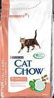 Cat Chow Special Care Sensitive Корм для кошек с чувствительным пищеварением - 15 кг