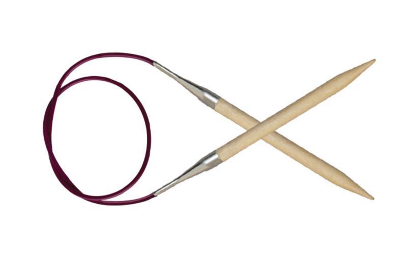 Спицы круговые 100 см Basix Birch Wood KnitPro  4,50 мм
