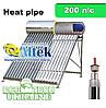Солнечный коллектор (бойлер) Altek SP-H1-20 (200 л в сутки) сезонный напорный Heat pipe