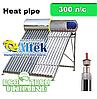 Солнечный коллектор (бойлер) Altek SP-H1-30 (300 л в сутки) сезонный напорный Heat pipe