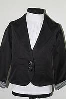 Шкільний піджак для дівчинки Deva 1201 чорний