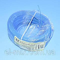 Провід монтажний мідний LgY 1*0,5 мм. кв H05V-K Elektrokabel синій KAB0842 / бухта 100м
