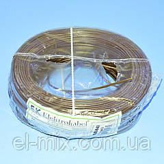 Провід монтажний мідний LgY 1*0,5 мм. кв H05V-K Elektrokabel коричневий KAB0843 / бухта 100м