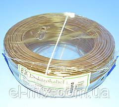 Провід монтажний мідний LgY 1*1,0 мм. кв H05V-K Elektrokabel коричневий KAB0863 / бухта 100м