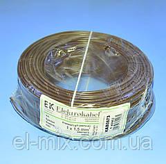 Провід монтажний мідний LgY 1*1,5 мм. кв H07V-K Elektrokabel коричневий KAB0873 / бухта 100м