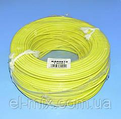 Провід монтажний мідний LgY 1*1,5 мм. кв H07V-K Elektrokabel жовтий KAB0874 / бухта 100м