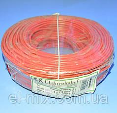 Провід монтажний мідний LgY 1*2,5 мм. кв H07V-K Elektrokabel червоний KAB0880 / бухта 100м