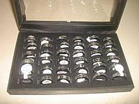 Кольцо из стали (с символами) чёрные, фото 1