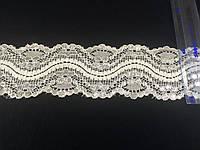 Кружево стрейч  люрикс цвет белый 55 мм N951