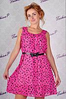 Платье из шифона с поясом, фото 1