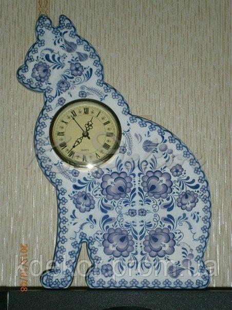 КОШКА (КОТ)  основа для часов заготовка для декупажа и декора