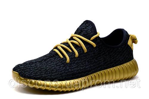 Кроссовки Adidas Yeezy Boost, черные, мужские, текстиль