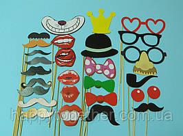 """Аксессуары """"Усы,губки и очки """" для фотосессии"""