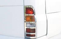 Накладки на стопы Ford Transit (Форд транзит), нерж.