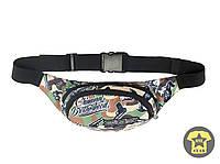 Сумка поясная ( сумочка на пояс ,  бананка , барсетка  ) Urban Planet - Bandits Camo ( камуфляж / зеленый )