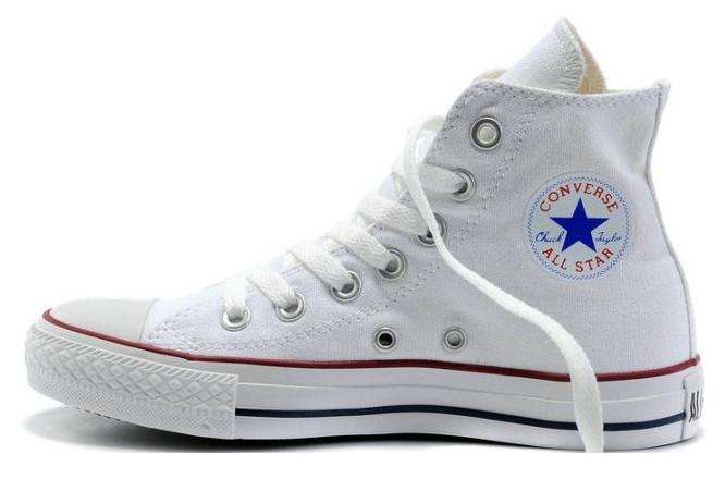 Женские кеды Converse All Star High белые, Конверс Ол Стар