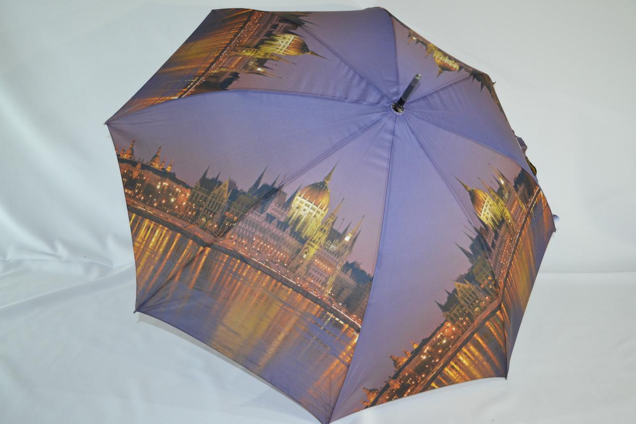 """Зонт-трость №ВР1011 з фото Будапешта від фірми """"Feeling Rain""""."""