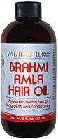Брахми Амла Масло 237мл Brahmi Amla Hair Oil Vadik Herbs. Для укрепления и роста волос.