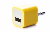 Блок питания (USB, разные цвета) Желтый