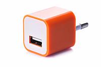 Блок питания (USB, разные цвета) Оранжевый