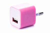 Блок питания (USB, разные цвета) Розовый