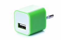 Блок питания (USB, разные цвета) Салатовый