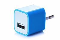 Блок питания (USB, разные цвета) Синий