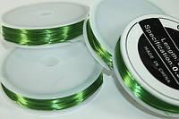 Проволока 50 метров 0.37мм (зеленая/золотая) Зеленый