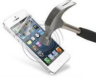 Пленка (стекло) антиударная для Iphone 4/4s (передняя панель, дисплей)
