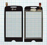 Тачскрин сенсорное стекло для LG GS290 black