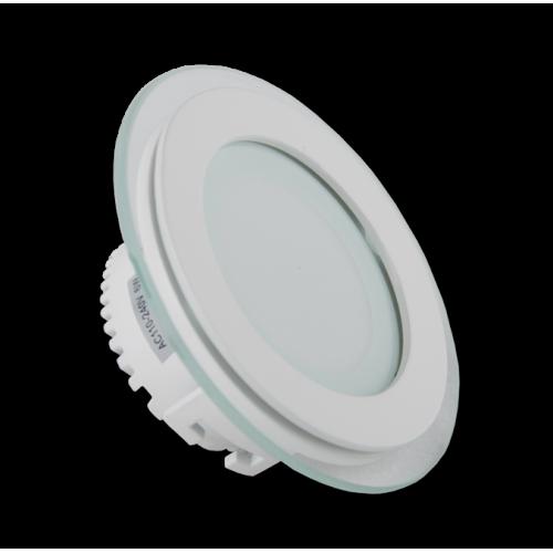 Светодиодная панель встраиваемая со стеклом СП 6W круг, фото 1