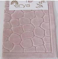 Набор ковриков для ванной и туалета   Arya Tas розовый