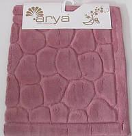 Набор ковриков для ванной и туалета   Arya Tas сухая роза