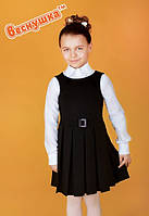 Шкільний сарафан для дівчинки: 6029-1 чорний
